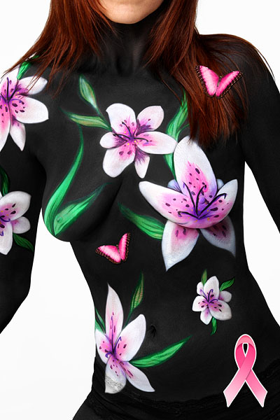 nude body painting for breast cancer survivors