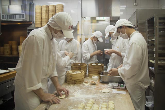 Din Tai Fung great dim sum in Hong Kong
