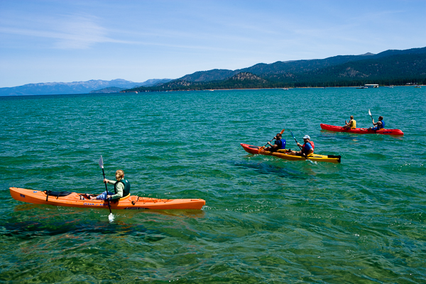 Round Magazine - Kayaks on Lake Tahoe
