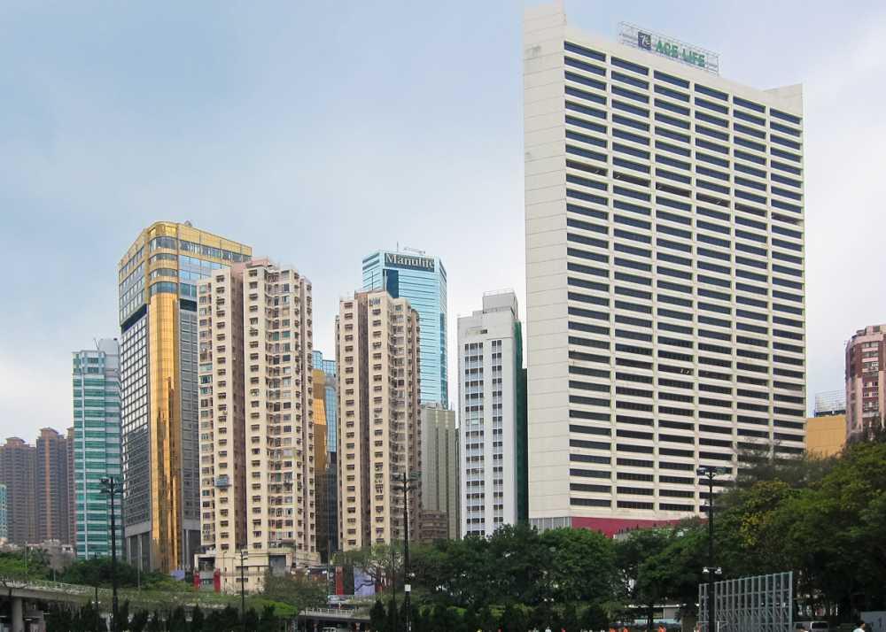 Causeway Bay Skyline - Round Magazine