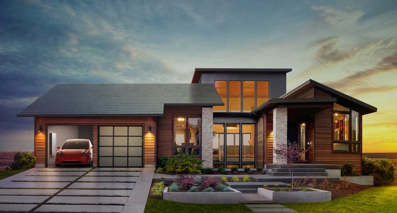 Solar roof tiles by Tesla